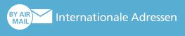 Internationale Adresse